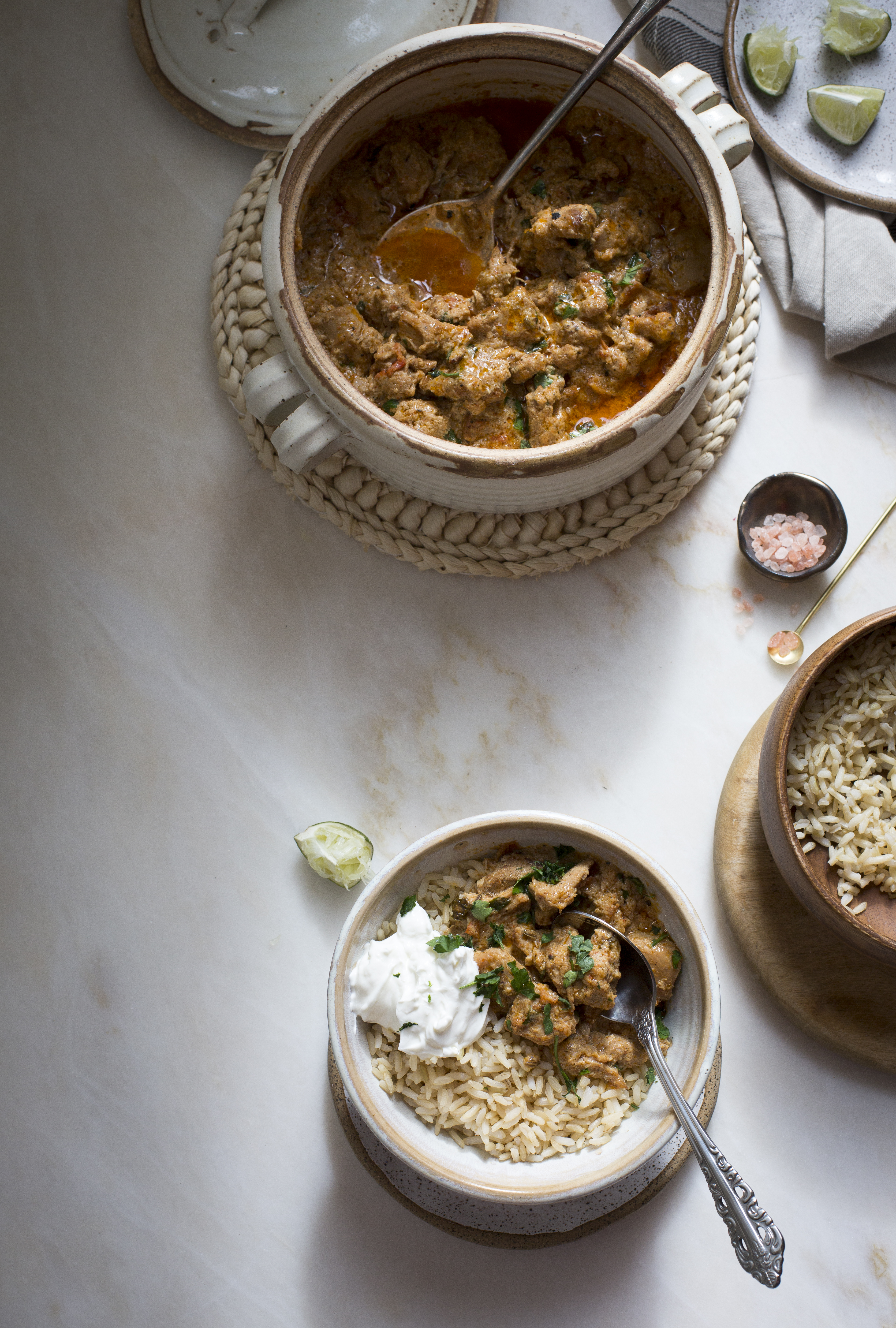 SIMPLE CHICKEN CURRY WITH YOGURT