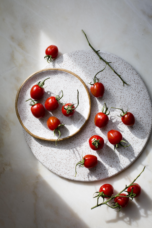 BRUSCHETTA CAPRESE WITH ROASTED GRAPE TOMATOES AND GARLIC