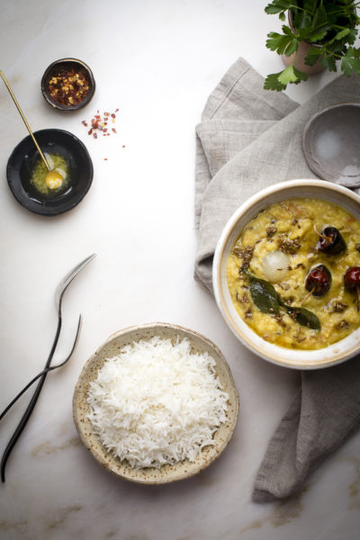 Indian Lentil Soup Or Dal Fry