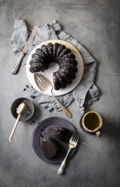 Dark Chocolate Fudge Bundt Cake